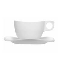 Bone cup and saucer tempered 220ml