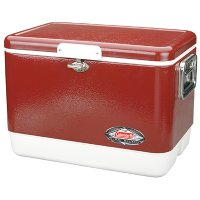 54qt Red steel belted cooler