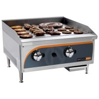 Flat top gas griller 600mm