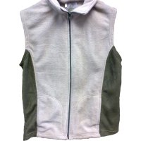 Ladies fleece gilet beige/moss
