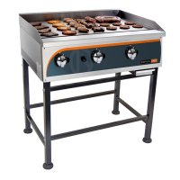 Flat top gas griller 900mm