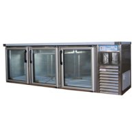 Underbar fridge glass hinged doors