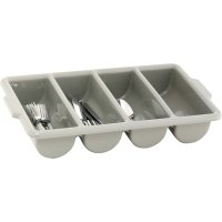 CUTLERY TRAY GREY 4 DIVISION-500x300mm