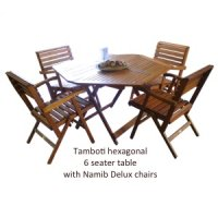 Tambotie hexagonal 6 seater table