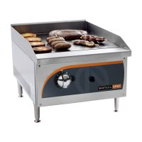 Flat top gas griller 400mm