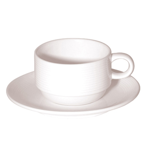 Stacking cup and saucer