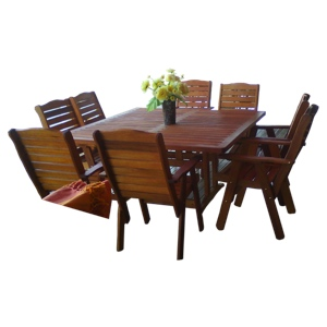 Baobab table square 8 seater