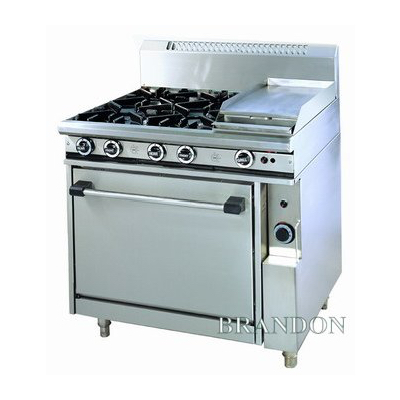 Brandon gas range - 4 burner + griddle