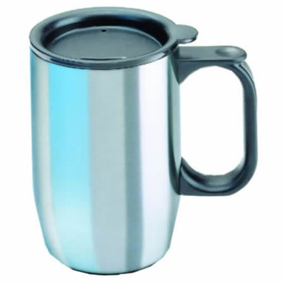 "Isosteel ""ISOBECHER"" S/Steel mug with lid"