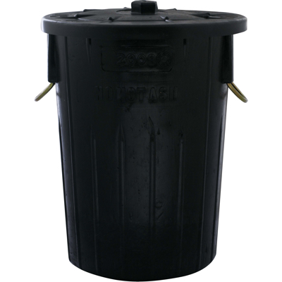Refuse bin with lid 85 litre