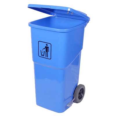 Wheelie bin with foot pedal 120 litre