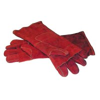 Leather oven mitts - 400mm (pair)