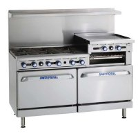 "IMPERIAL 60"" 6 BURNER + 2 OVENS & GRIDDLE"
